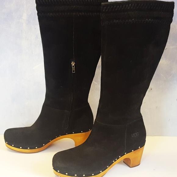 6b9b9877413 UGG Australia BLACK Suede ROSABELLA tall BOOT 1956